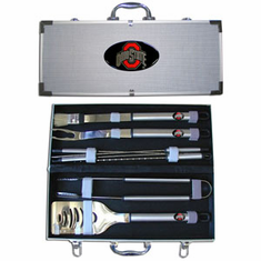 Ohio State Buckeyes 8pc BBQ Set - BACKORDERED