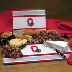 Ohio State Buckeyes Glass Cutting Board Set - BACKORDERED