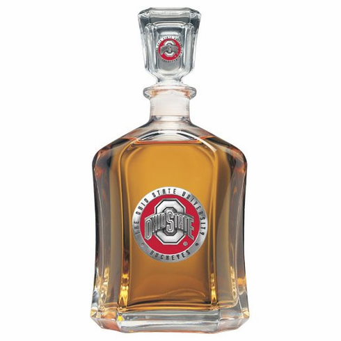 Ohio State Buckeyes Glass Decanter