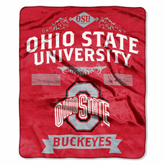 Ohio State Buckeyes Property of Raschel Blanket
