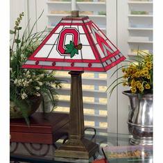 Ohio State Buckeyes Stained Glass Mission Style Lamp - BACKORDERED
