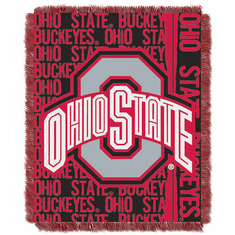 Ohio State Buckeyes Triple Woven Jacquard Throw