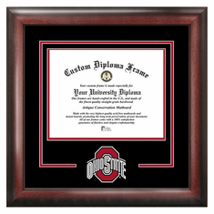 Ohio State University Spirit Diploma Frame