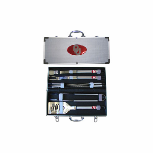 Oklahoma Sooners 8pc BBQ Set - BACKORDERED