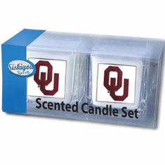 Oklahoma Sooners Candle Set - BACKORDERED