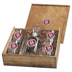 Oklahoma Sooners Capital Decanter Box Set