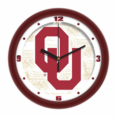 Oklahoma Sooners Dimension Wall Clock