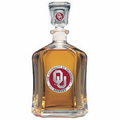 Oklahoma Sooners Glass Decanter