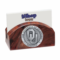 Oklahoma Sooners Ironwood Business Card Holder