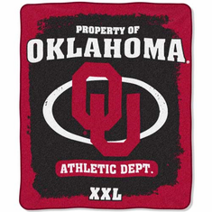 Oklahoma Sooners Property of Raschel Blanket
