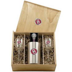 Oklahoma Sooners Wine Set Box