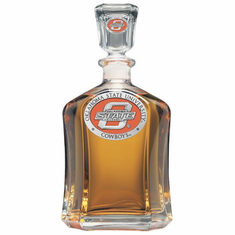 Oklahoma State Cowboys Glass Decanter