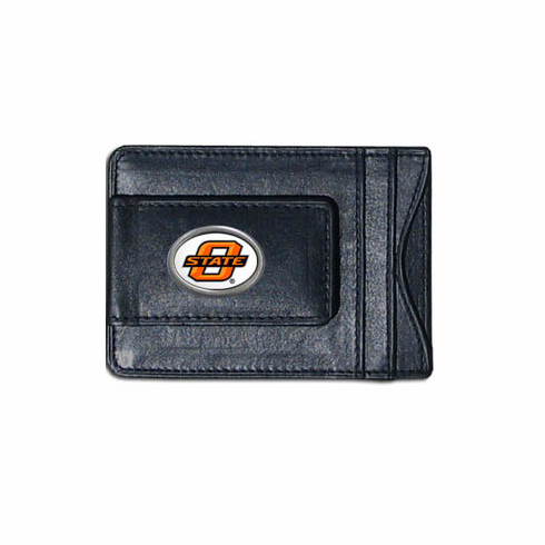 Oklahoma State Leather Cash and Card Holder - BACKORDERED