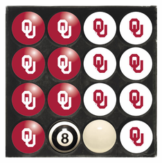 Oklahoma University Home & Away Billiard Ball Set