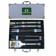 Oregon Ducks 8pc BBQ Set - BACKORDERED