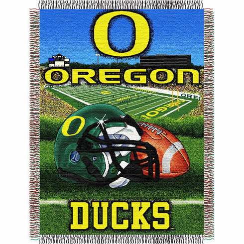 Oregon Ducks Home Field Advantage Woven Tapestry Throw
