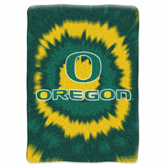 Oregon Ducks Royal Plush Raschel Blanket - Tye Dye Series - BACKORDERED