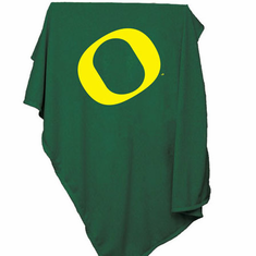 Oregon Ducks Sweatshirt Blanket Throw