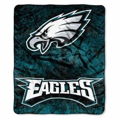 Philadelphia Eagles NFL Royal Plush Raschel Blanket