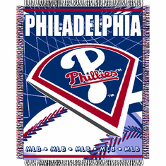 Philadelphia Phillies Double Play Jacquard Throw