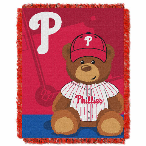 Philadelphia Phillies Triple Woven Jacquard Baby Throw