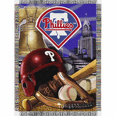 Philadelphia Phillies Woven Tapestry Throw