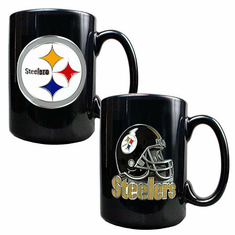 Pittsburgh Steelers 2pc Coffee Mug Set - BACKORDERED