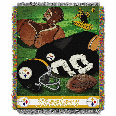 Pittsburgh Steelers Triple Woven Vintage Throw