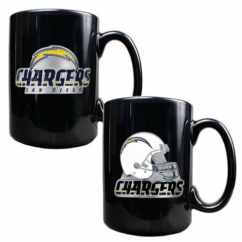 San Diego Chargers 2pc Coffee Mug Set - BACKORDERED