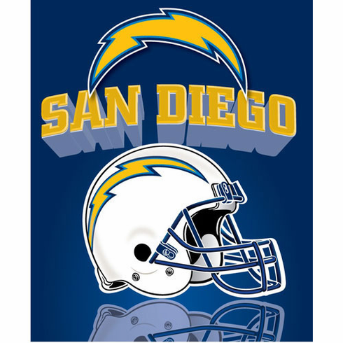 San Diego Chargers Light Weight Fleece Blanket - BACKORDERED