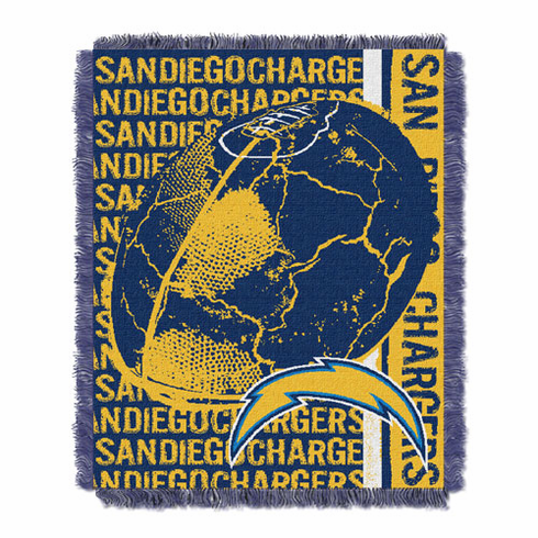 San Diego Chargers Triple Woven Double Play Throw