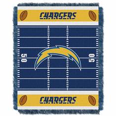 San Diego Chargers Triple Woven Jacquard Baby Throw