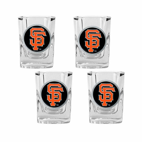 San Francisco Giants 4pc Square Shot Glass Set