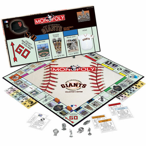 San Francisco Giants Team Collector's Edition Monopoly - BACKORDERED