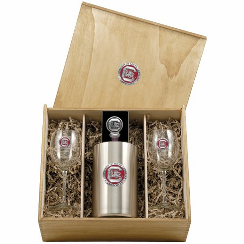 South Carolina Gamecocks Wine Set Box