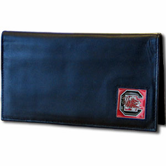 South Carolina Leather Checkbook Cover - BACKORDERED