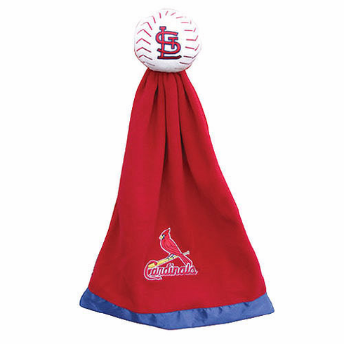 St. Louis Cardinals Plush Baseball with Attached Security Blanket - BACKORDERED