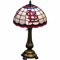 St. Louis Cardinals Stained Glass Table Lamp - BACKORDERED