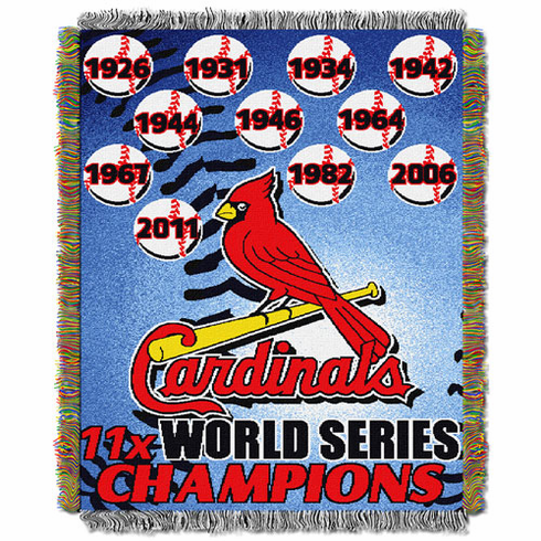 St. Louis Cardinals World Series Commemorative Woven Tapestry Throw