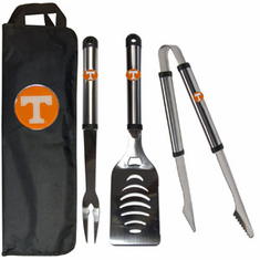 Tennessee Volunteers 3pc Stainless Steel BBQ Set w/ Bag
