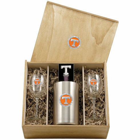 Tennessee Volunteers Wine Set Box
