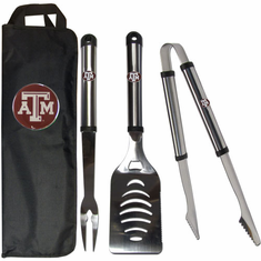 Texas A&M Aggies 3pc Stainless Steel BBQ Set w/ Bag - BACKORDERED