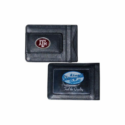 Texas A&M Leather Cash and Card Holder