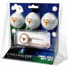Texas Longhorns 3 Ball Gift Pack w/ Cap Tool