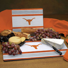 Texas Longhorns Glass Cutting Board Set - BACKORDERED