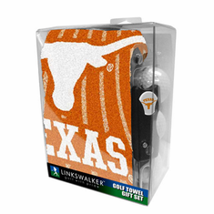 Texas Longhorns Jacquard Golf Towel Gift Pack with Three Balls Repair Tool & Marker