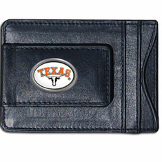 Texas Longhorns Leather Cash and Card Holder - BACKORDERED