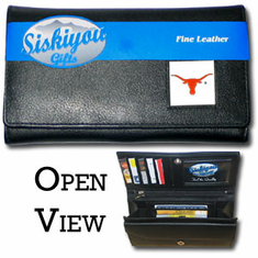 Texas Longhorns Leather Ladies Wallet - BACKORDERED