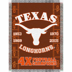 Texas Longhorns National Championship Commemorative Woven Tapestry Throw