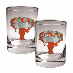 Texas Longhorns Two Piece Rocks Glass Set